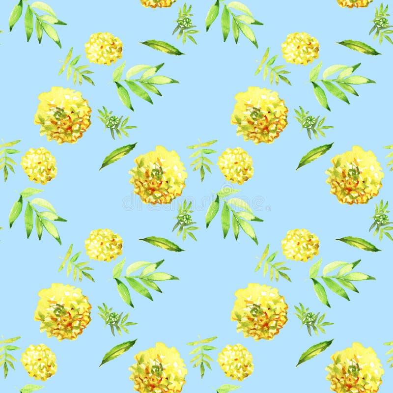 Κίτρινο Marigold άνευ ραφής m E διανυσματική απεικόνιση