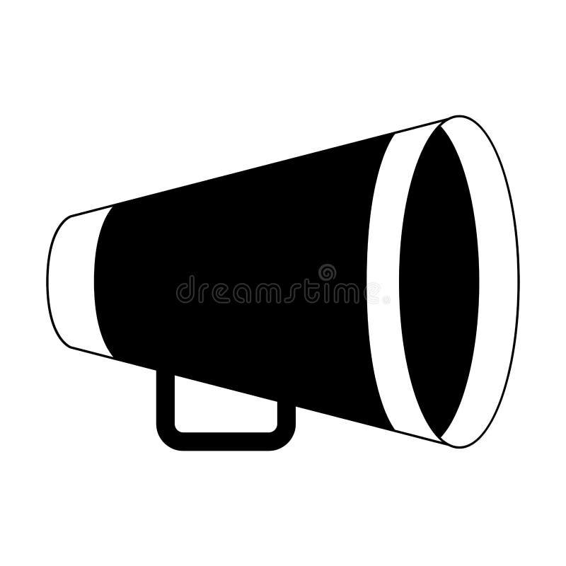 Κίτρινο megaphone διευθυντή απεικόνιση αποθεμάτων
