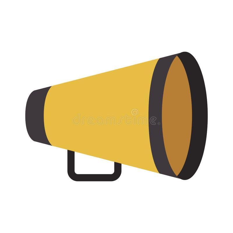 Κίτρινο megaphone διευθυντή διανυσματική απεικόνιση