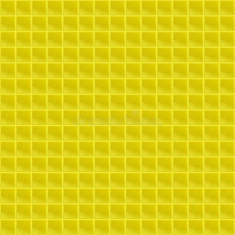 Κίτρινο Tetrahedral μωσαϊκό σχεδίων απεικόνιση αποθεμάτων