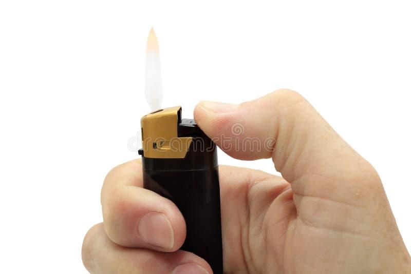 καίγοντας αναπτήρας τσιγ στοκ φωτογραφίες
