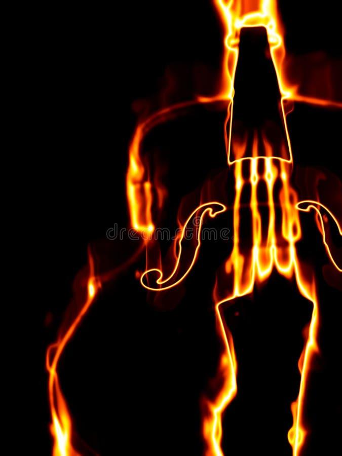 Καίγοντας βιολί διανυσματική απεικόνιση
