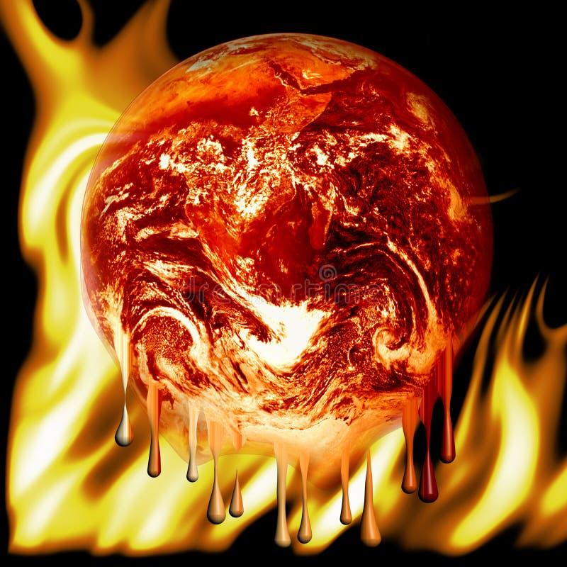 καίγοντας γήινη πυρκαγιά στοκ εικόνες με δικαίωμα ελεύθερης χρήσης
