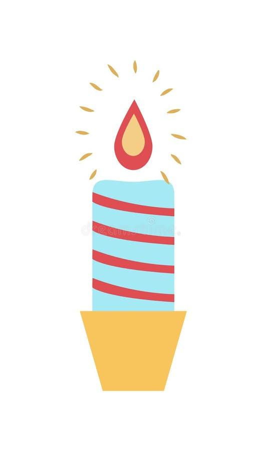 Καίγοντας διανυσματική απεικόνιση κηροπηγίων κεριών κεριών διανυσματική απεικόνιση