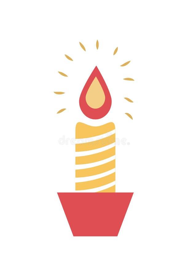 Καίγοντας διανυσματική απεικόνιση κηροπηγίων κεριών κεριών ελεύθερη απεικόνιση δικαιώματος