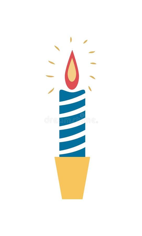 Καίγοντας διανυσματική απεικόνιση κηροπηγίων κεριών κεριών απεικόνιση αποθεμάτων