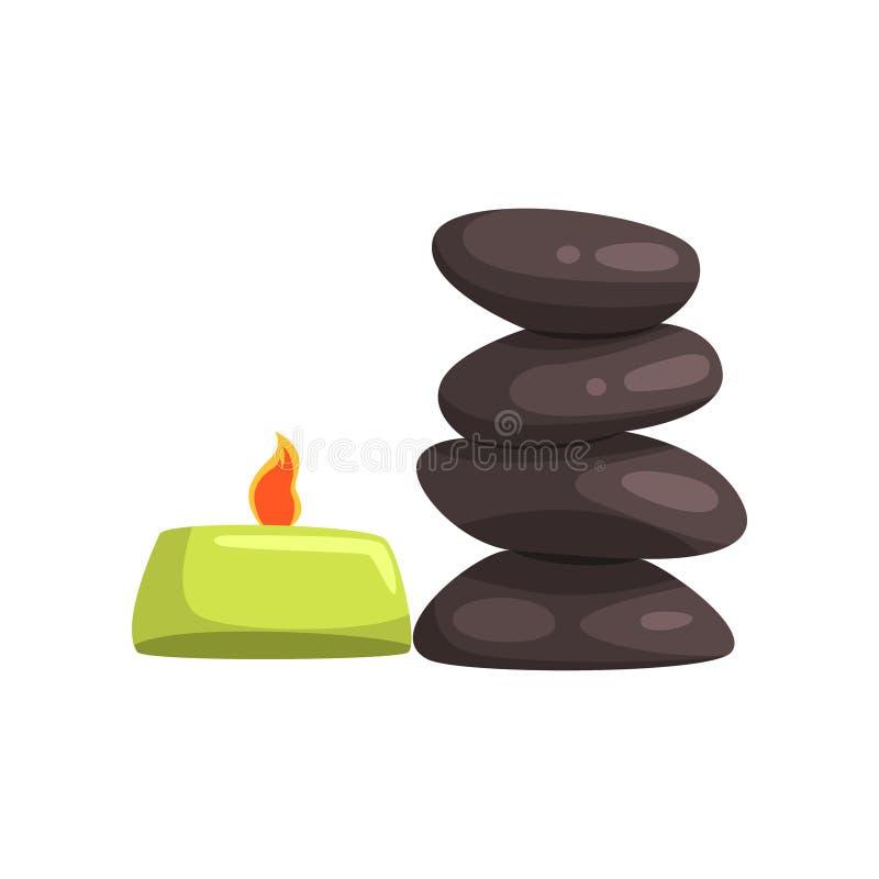 Καίγοντας καταστήματα κεριών αρώματος και SPA για τις διαδικασίες μασάζ εναλλακτικός δίσκος biloba λουτρών μπαμπού ginkgo items m απεικόνιση αποθεμάτων
