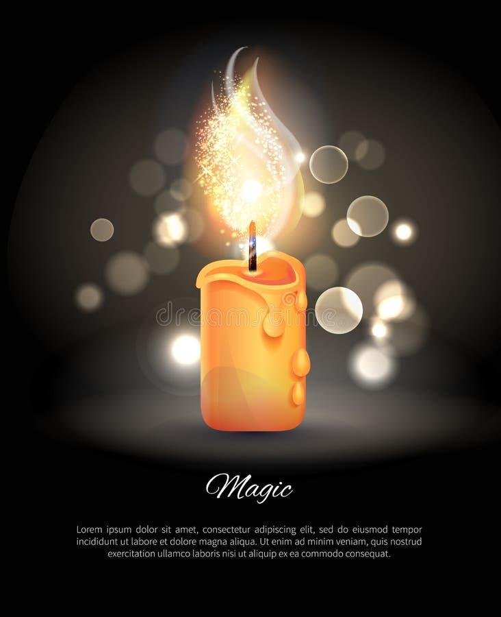 Καίγοντας κερί στο ρεαλιστικό διανυσματικό εικονίδιο σχεδίου διανυσματική απεικόνιση