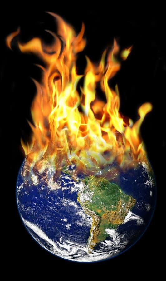 καίγοντας κόσμος ελεύθερη απεικόνιση δικαιώματος