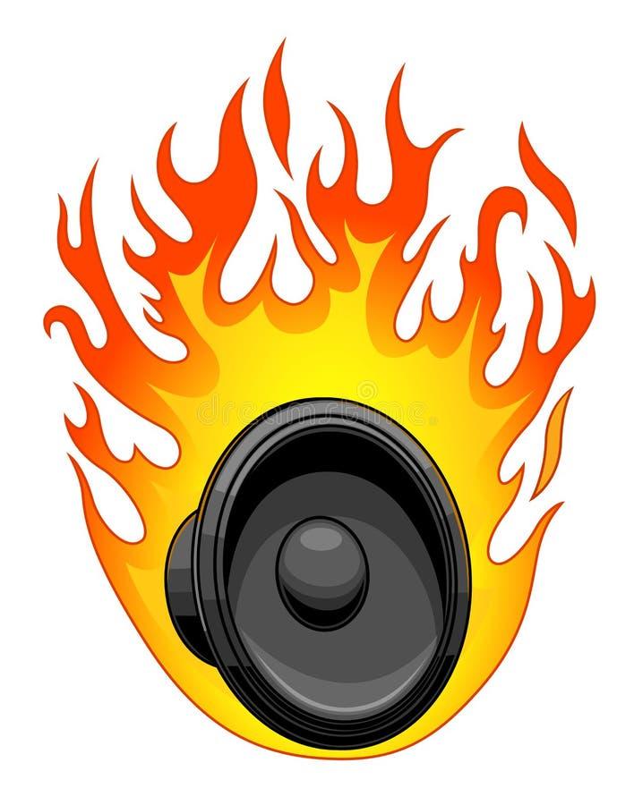 Καίγοντας μεγάφωνο ελεύθερη απεικόνιση δικαιώματος