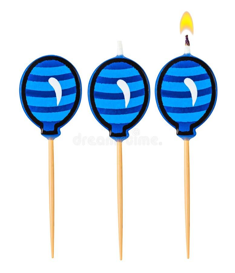 Καίγοντας μπαλόνι κεριών γενεθλίων στοκ φωτογραφία με δικαίωμα ελεύθερης χρήσης