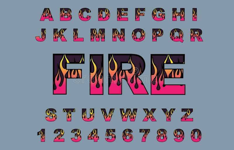 Καίγοντας πηγές φλογών πυρκαγιάς διανυσματική απεικόνιση