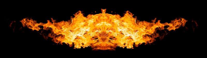 Καίγοντας σκιαγραφία πουλιών απεικόνιση αποθεμάτων