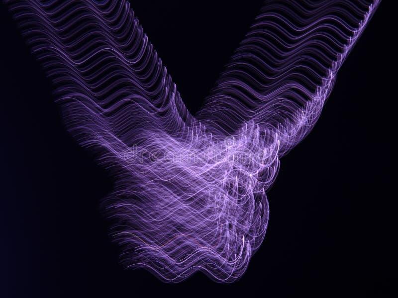 Καίγοντας το μπλε Φοίνικας που απομονώνεται πέρα από το μαύρο υπόβαθρο απεικόνιση αποθεμάτων