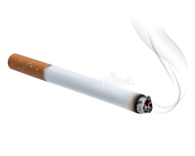 Καίγοντας τσιγάρο. Διανυσματική απεικόνιση ελεύθερη απεικόνιση δικαιώματος