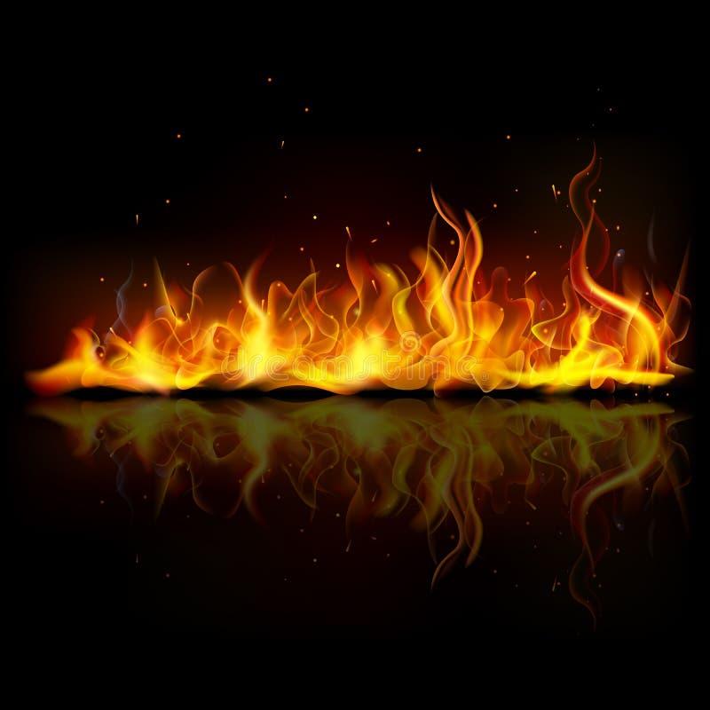 Καίγοντας φλόγα πυρκαγιάς διανυσματική απεικόνιση