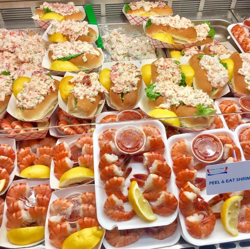 Καβούρι γαρίδων τροφίμων της Βοστώνης στοκ εικόνες