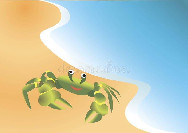 Download Καβούρι στην αμμώδη ακτή διανυσματική απεικόνιση. εικονογραφία από άμμος - 62705197