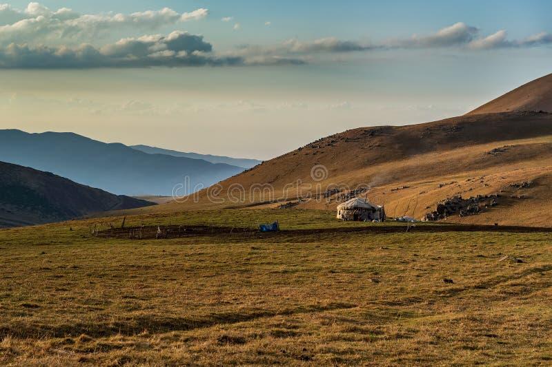 Καζάκος yurt στοκ εικόνες
