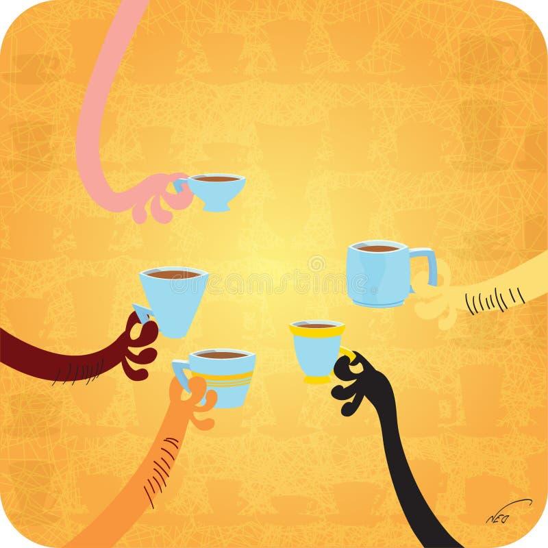 Καθένας συμπαθεί τον καφέ στοκ εικόνες
