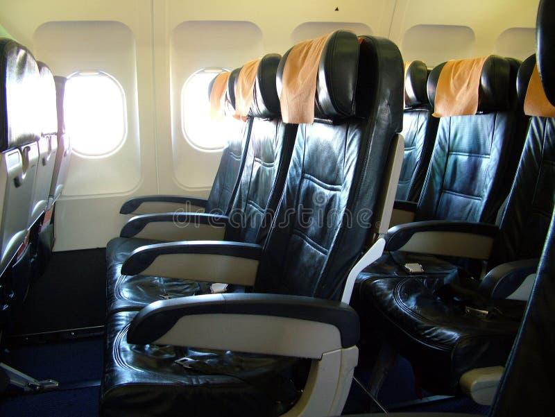 καθίσματα αεροπλάνων στοκ εικόνα