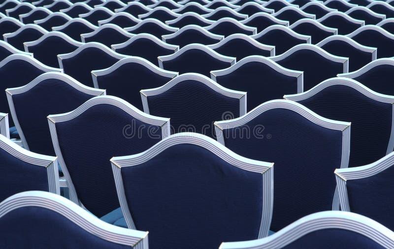 καθίσματα διάλεξης αιθουσών στοκ εικόνα