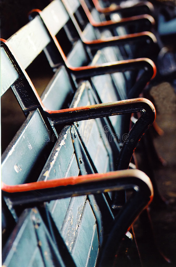 καθίσματα εξεδρών Στοκ Φωτογραφία