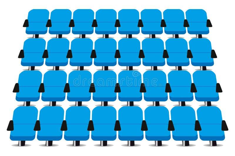 Καθίσματα κινηματογράφων απεικόνιση αποθεμάτων