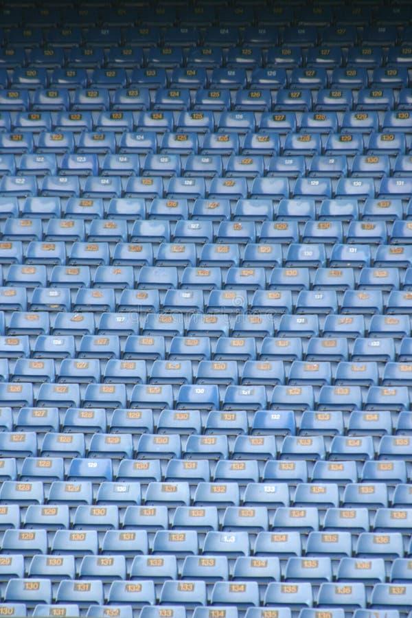 καθίσματα 1 ποδοσφαίρου στοκ φωτογραφία