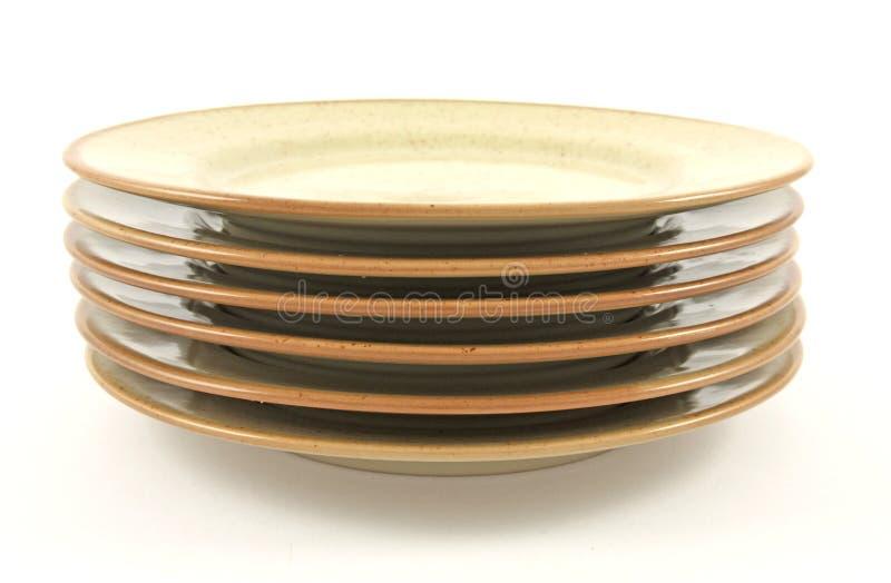 καθαρά πιάτα σωρών στοκ φωτογραφία
