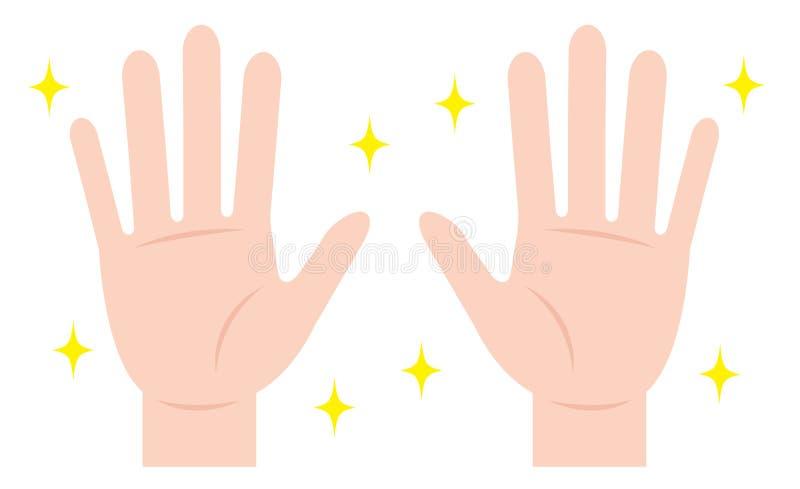καθαρά χέρια Υγιεινή χεριών ελεύθερη απεικόνιση δικαιώματος