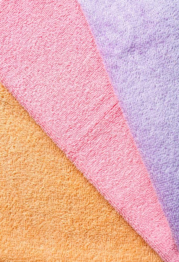Καθαρές μαλακές πετσέτες χρώματος στοκ φωτογραφίες με δικαίωμα ελεύθερης χρήσης