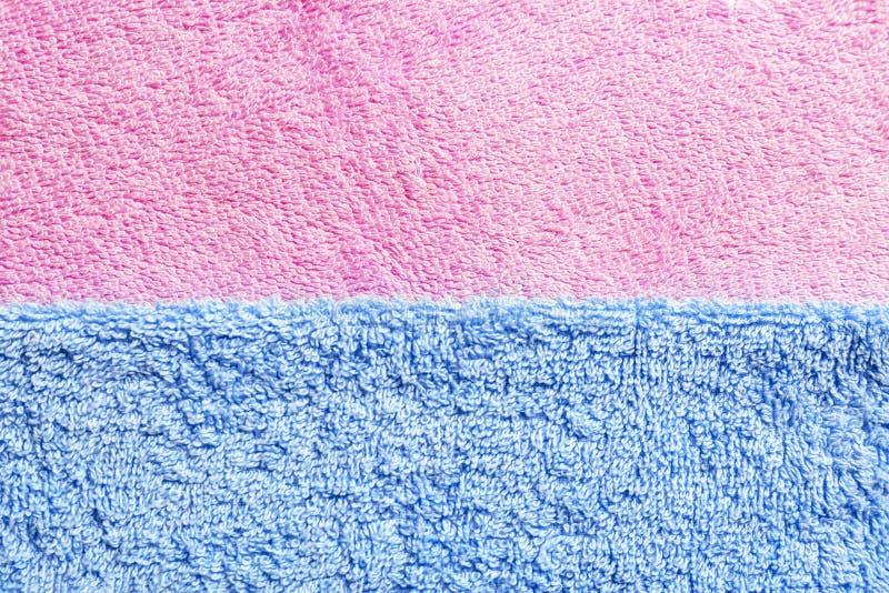 Καθαρές μαλακές πετσέτες χρώματος στοκ φωτογραφία