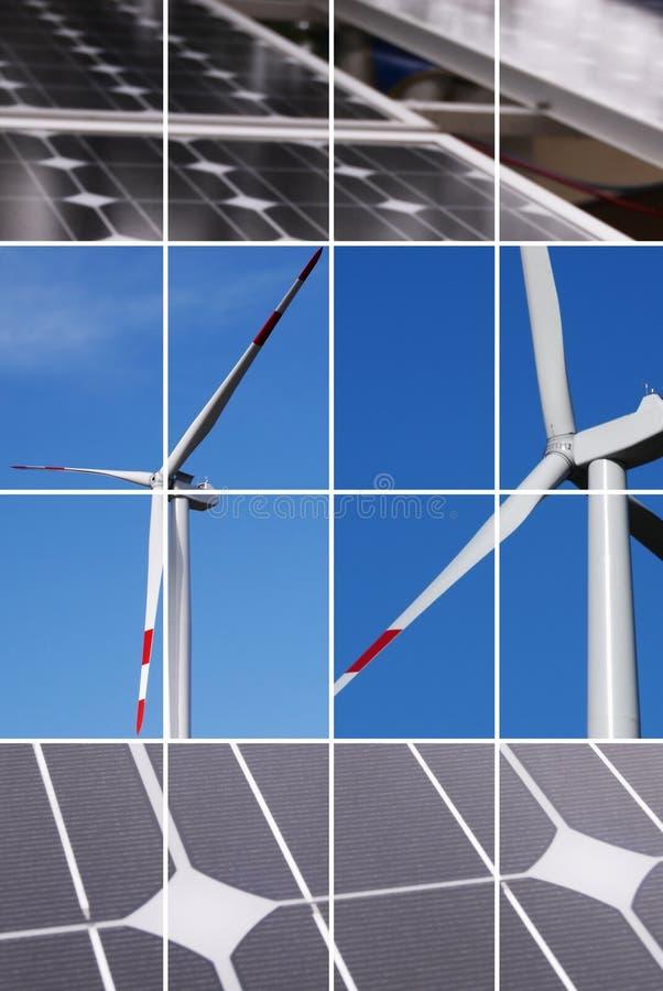 καθαρή ενέργεια κολάζ στοκ φωτογραφία με δικαίωμα ελεύθερης χρήσης