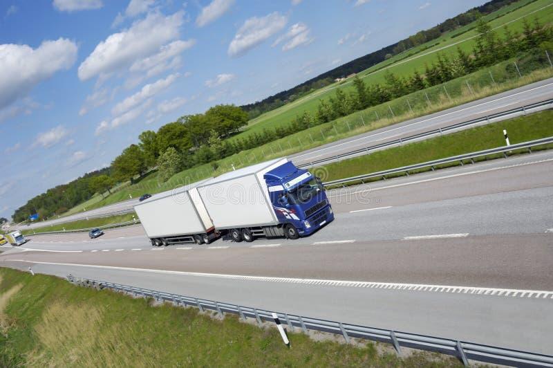 καθαρή μεταφορά με φορτηγό εθνικών οδών στοκ εικόνες με δικαίωμα ελεύθερης χρήσης