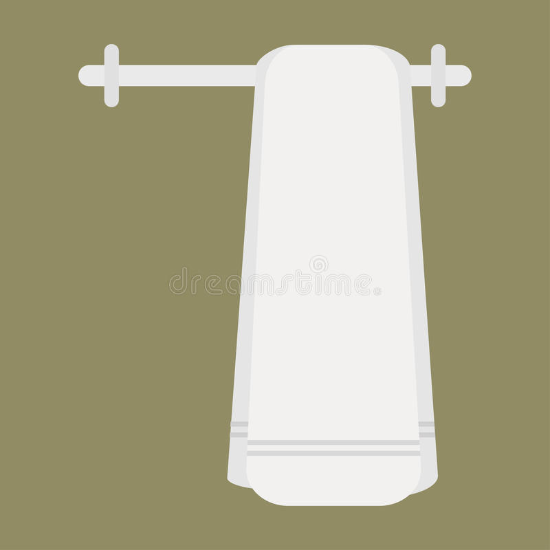 καθαρή πετσέτα ελεύθερη απεικόνιση δικαιώματος
