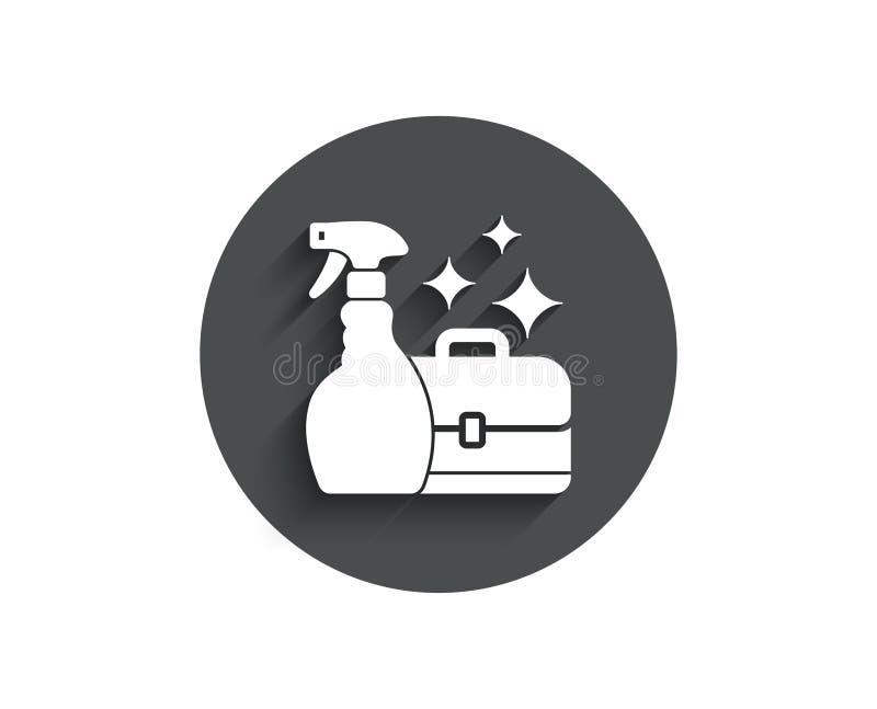 Καθαρίζοντας απλό εικονίδιο ψεκασμού Διπλωμάτης υπηρεσιών απεικόνιση αποθεμάτων