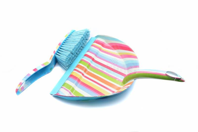 Καθαρίζοντας βούρτσα και τηγάνι σκόνης στοκ εικόνα με δικαίωμα ελεύθερης χρήσης