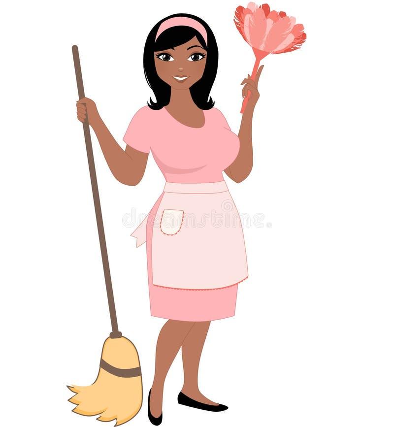 Καθαρίζοντας γυναίκα απεικόνιση αποθεμάτων