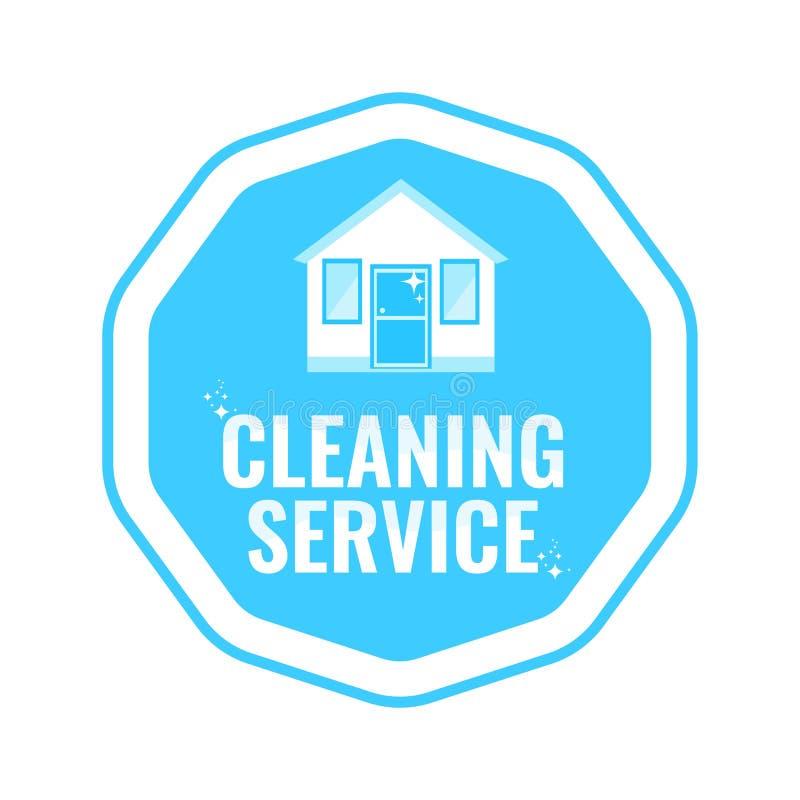 Καθαρίζοντας λογότυπο υπηρεσιών με το σπίτι r απεικόνιση αποθεμάτων