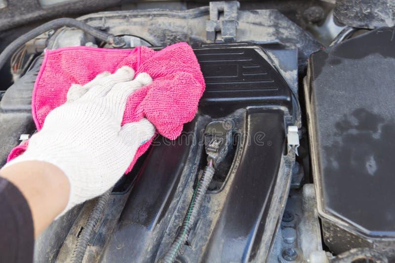 Καθαρίζοντας μηχανή αυτοκινήτων στοκ φωτογραφίες με δικαίωμα ελεύθερης χρήσης
