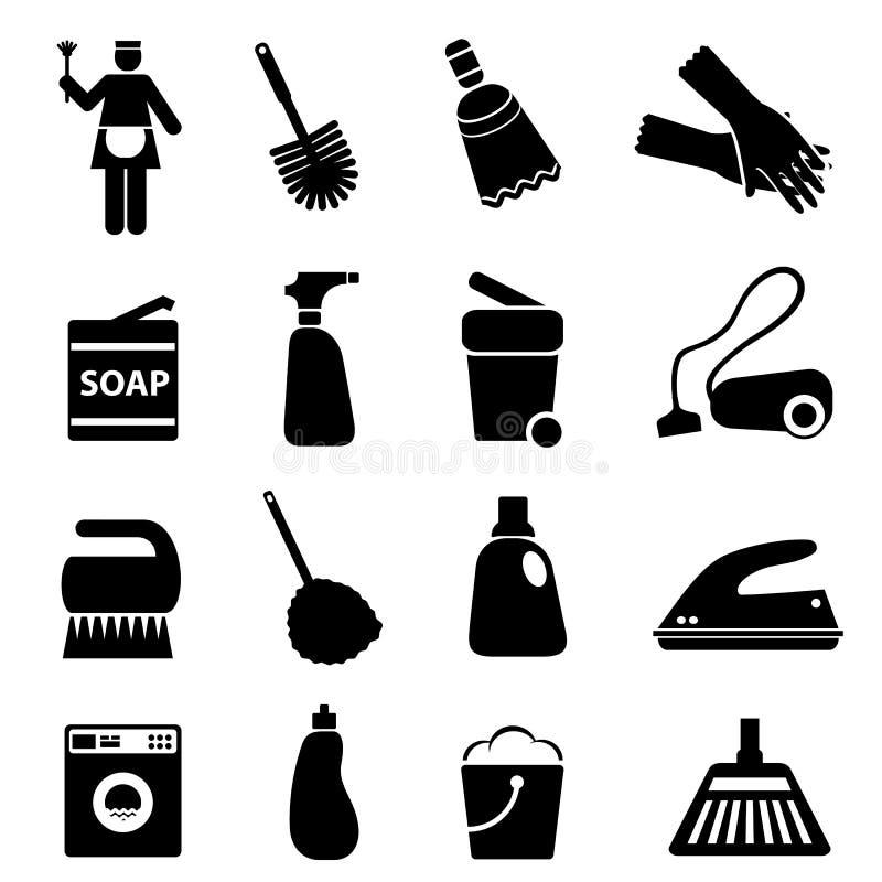 Καθαρίζοντας προμήθειες και εργαλεία ελεύθερη απεικόνιση δικαιώματος