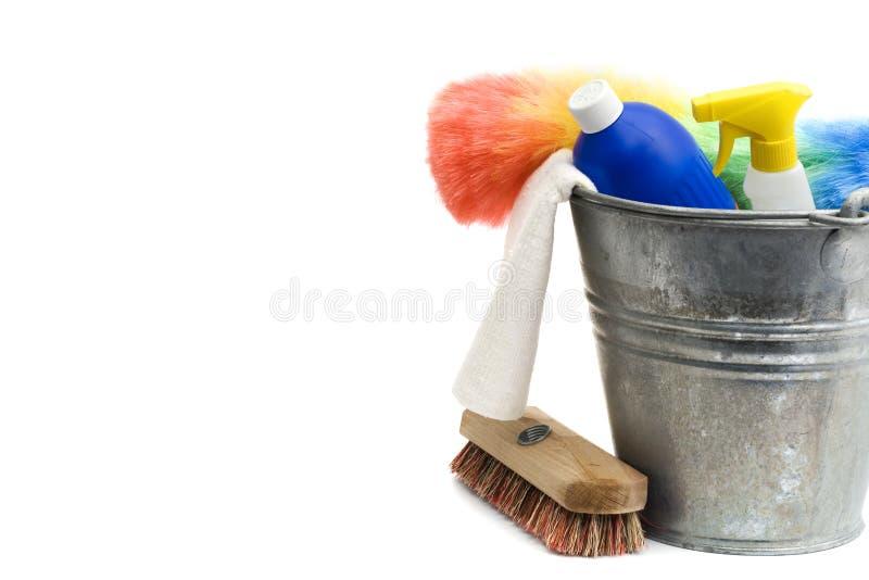καθαρίζοντας προμήθειε&s στοκ εικόνα