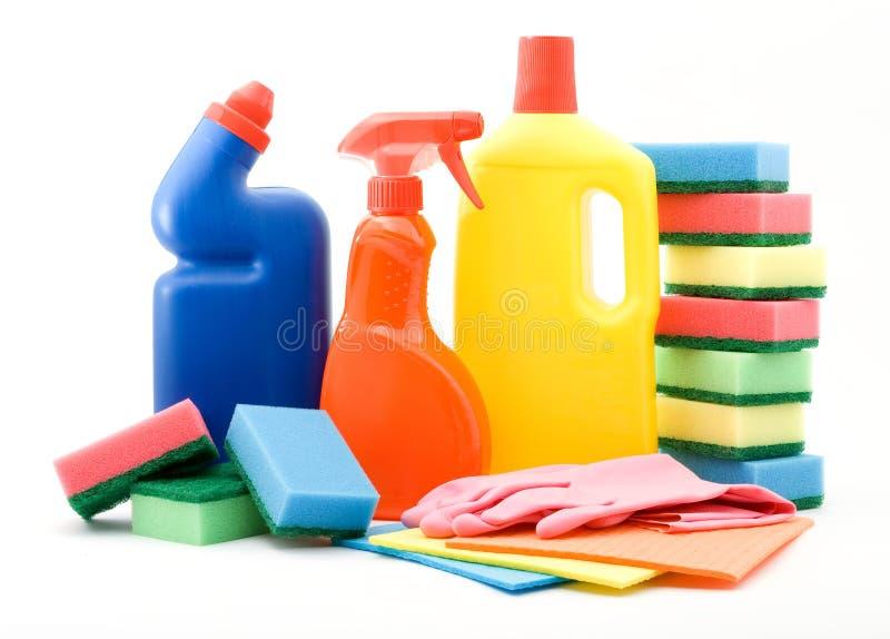 καθαρίζοντας προϊόντα στοκ φωτογραφία