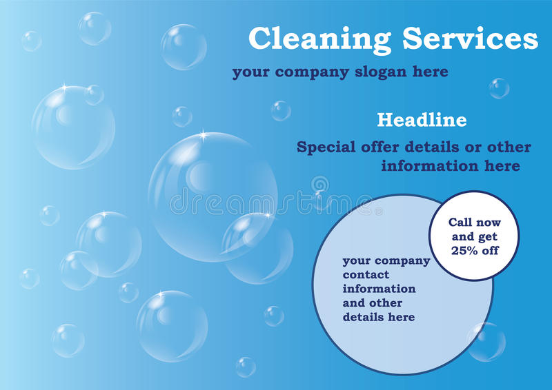 Καθαρίζοντας πρότυπο ιπτάμενων υπηρεσιών στοκ εικόνα με δικαίωμα ελεύθερης χρήσης
