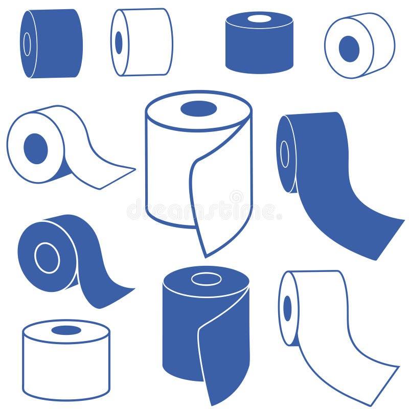 καθαρίζοντας τουαλέτα προϊόντων εγγράφου βασικής υγιεινής διανυσματική απεικόνιση