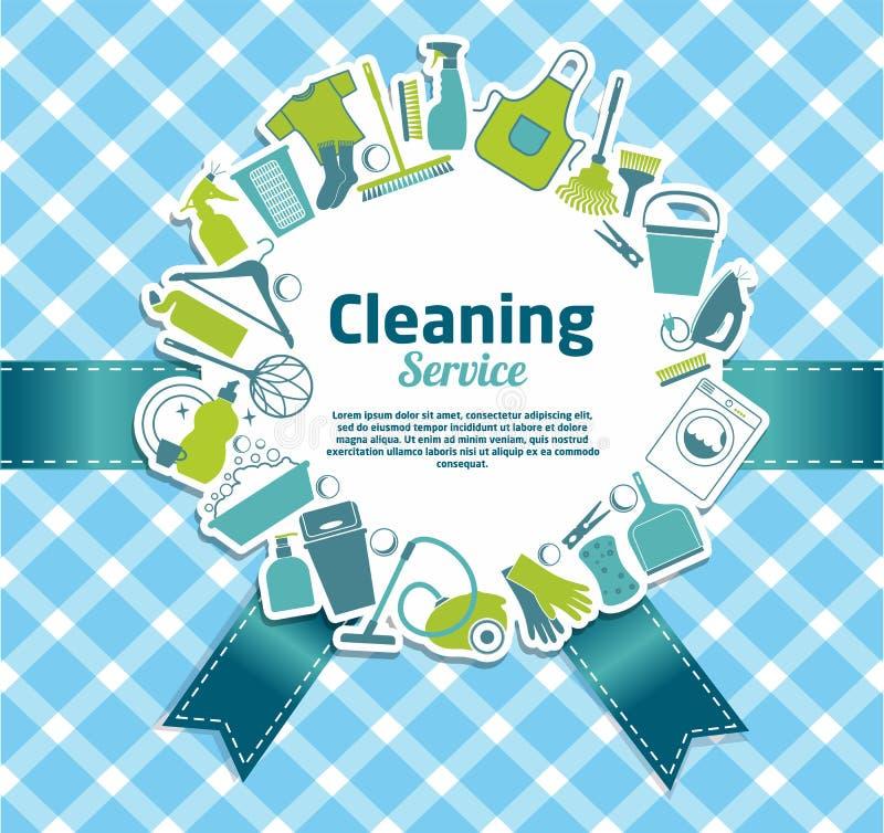 καθαρίζοντας υπηρεσία διανυσματική απεικόνιση