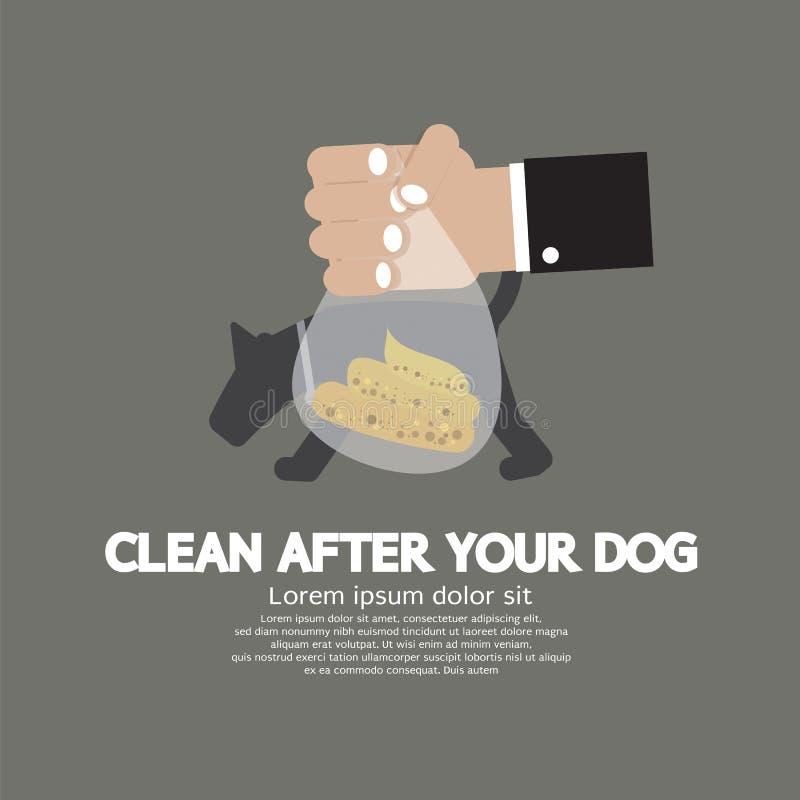 Καθαρίστε μετά από το σκυλί ελεύθερη απεικόνιση δικαιώματος