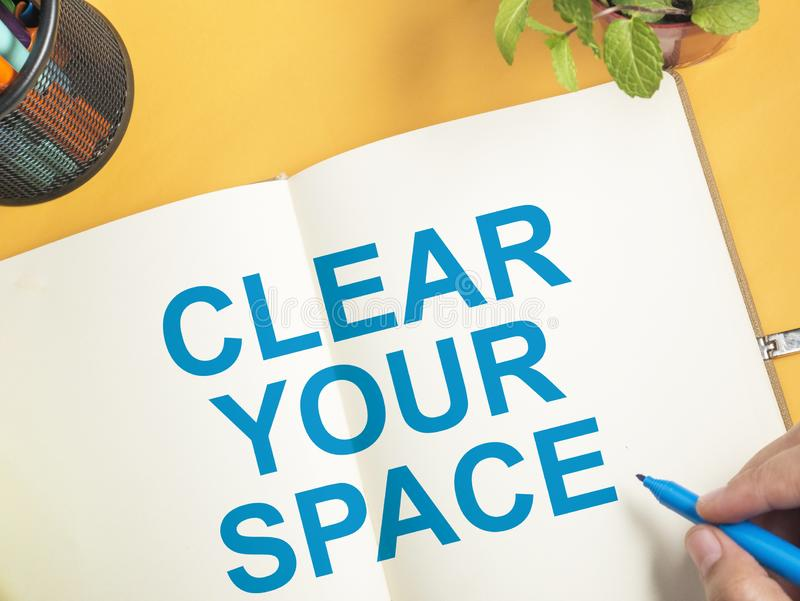 Καθαρίστε τη διαστημική, κινητήρια έννοια αποσπασμάτων λέξεών σας στοκ εικόνες με δικαίωμα ελεύθερης χρήσης