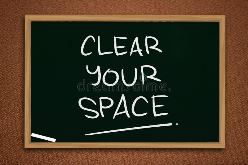 Καθαρίστε τη διαστημική, κινητήρια έννοια αποσπασμάτων λέξεών σας στοκ φωτογραφία με δικαίωμα ελεύθερης χρήσης